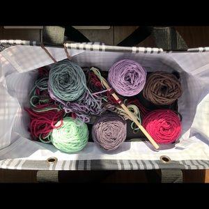 SOLD*****Knitting Macrame including Craft BAG